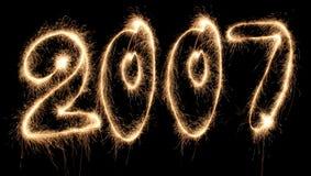 Grande sparkler di nuovo anno immagini stock libere da diritti