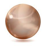 Grande sphère en verre opaque brune illustration de vecteur