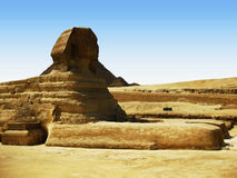Grande Sphinx no platô de Giza Fotografia de Stock