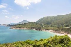 Grande spiaggia delle onde in Hong Kong Immagini Stock Libere da Diritti