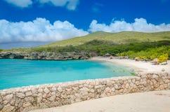 Grande spiaggia di Knip nel Curacao alle Antille olandesi Immagine Stock Libera da Diritti
