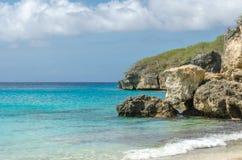 Grande spiaggia di Knip nel Curacao alle Antille olandesi Fotografia Stock