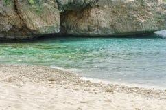 Grande spiaggia di Knip nel Curacao alle Antille olandesi Fotografia Stock Libera da Diritti