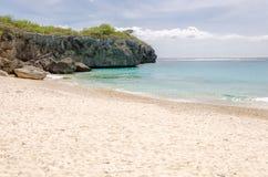 Grande spiaggia di Knip nel Curacao alle Antille olandesi Fotografie Stock Libere da Diritti