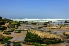 Grande spiaggia nel Portogallo Immagini Stock Libere da Diritti