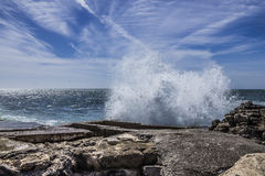 Grande spiaggia nel Portogallo Immagine Stock