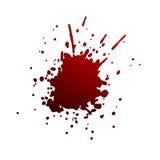 Grande spruzzata rossa Immagine Stock