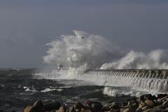 Grande spruzzata tempestosa dell'onda Immagine Stock Libera da Diritti