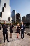 Grande squadra di affari della città Immagine Stock