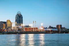 Grande stadio americano dell'ambito a Cincinnati, Ohio Immagine Stock