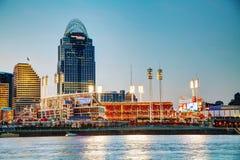 Grande stadio del parco di palla americana a Cincinnati Immagini Stock Libere da Diritti