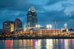Grande stadio del parco di palla americana a Cincinnati Immagine Stock Libera da Diritti
