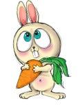 Grande stampa osservata della maglietta del coniglietto Immagine Stock