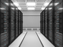 Grande stanza del server illustrazione vettoriale