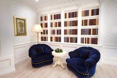 Grande stanza delle biblioteche Immagini Stock