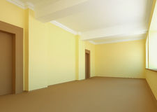 Grande stanza vuota Fotografie Stock
