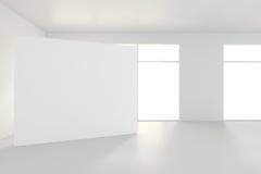 Grande stanza vuota con i tabelloni per le affissioni diritti rappresentazione 3d Fotografia Stock