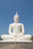 Grande statua bianca di Buddha Fotografia Stock Libera da Diritti