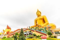 Grande statua del buddha in Tailandia immagine stock