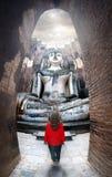Grande statua del buddha in Tailandia fotografie stock