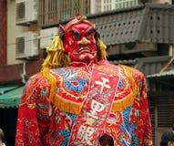 Grande statua del demone in Taiwan Immagini Stock