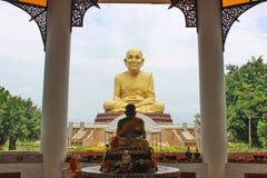 Grande statua del monaco Fotografia Stock