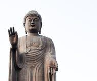 Grande statua di Buddha su fondo bianco, Narita, Giappone Immagini Stock Libere da Diritti