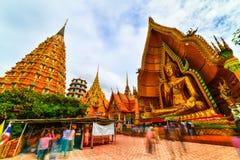 Grande statua di Buddha a Tiger Cave Temple, Tailandia fotografie stock