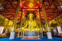 Grande statua dorata di Buddha Immagine Stock Libera da Diritti