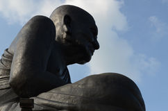 Grande statua nera di Buddha Fotografie Stock Libere da Diritti