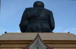 Grande statua nera di Buddha Fotografia Stock Libera da Diritti
