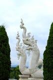 Grande statua tailandese del drago Immagine Stock
