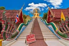 Grande statue de Bouddha. Borne limite d'île de Samui de KOH Image libre de droits