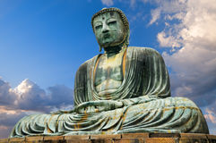 Grande statue de Bouddha ; Kamakura, Japon Photo libre de droits