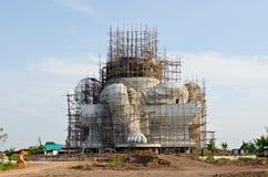 Grande statue de ganesha en construction Photos libres de droits