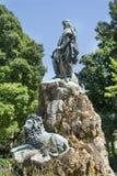 Grande statue de lion à Venise, Italie Images libres de droits
