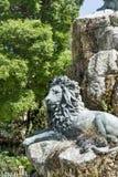 Grande statue de lion à Venise, Italie Photographie stock