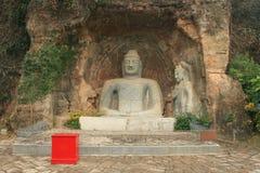 Grande statue de pierre de Bouddha de Chinois à Shenzhen Image libre de droits