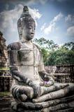 Grande statue en pierre de Bouddha Photos libres de droits