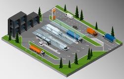 Grande stazione del combustibile Immagine Stock