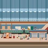 Grande stazione del treno Immagine Stock