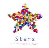Grande stella composta Fotografia Stock Libera da Diritti