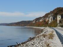 Grande strada del fiume Fotografie Stock
