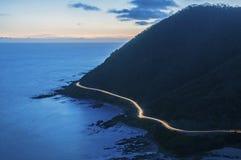 Grande strada dell'oceano Fotografie Stock