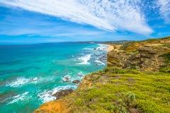 Grande strada dell'oceano: Allerta dell'entrata di Aireys Fotografia Stock Libera da Diritti