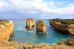 Grande strada dell'oceano dei dodici apostoli Fotografia Stock Libera da Diritti