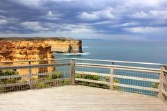 Grande strada dell'oceano dell'allerta scenica Fotografia Stock Libera da Diritti