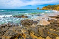 Grande strada dell'oceano: Entrata Victoria di Aireys Fotografia Stock Libera da Diritti