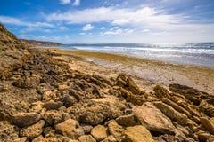 Grande strada dell'oceano: Spiaggia di Belhi Immagini Stock Libere da Diritti