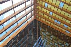 Grande structure en bois d'un b?timent image libre de droits